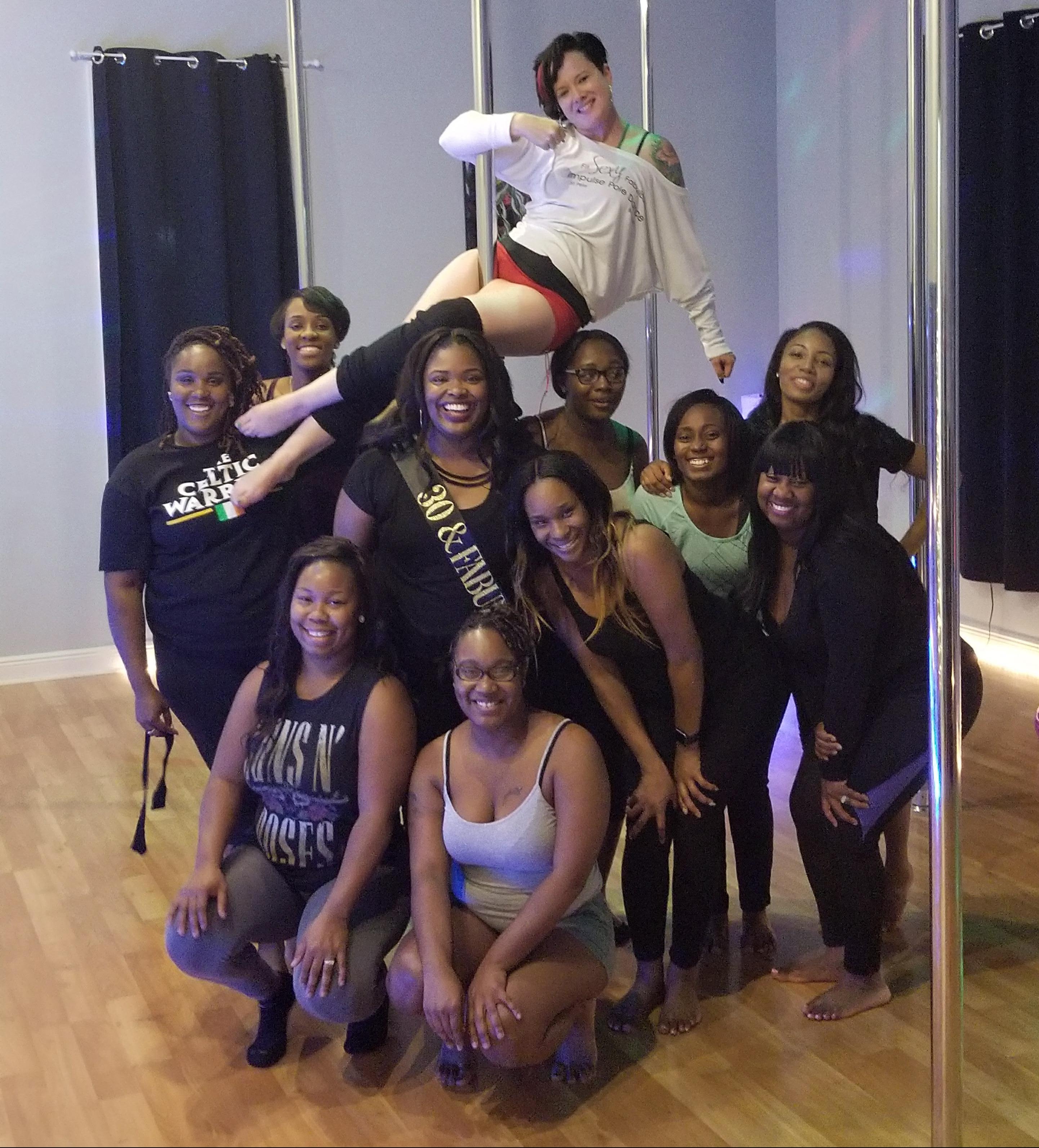 A very fun group at Impulse Pole Dance